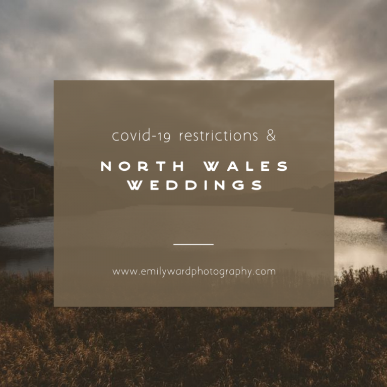 Text image with the overlay of covid-19 restrictions and getting married in north wales